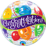 "22"" SINGLE BUBBLE CONGRATULATIONS BALLOONS"