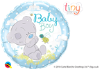 "18"" ROUND TINY TATTY TEDDY BABY BOY FOIL BALLOON"