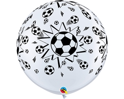 Qualatex 29204 3ft Round Soccer Balls Latex