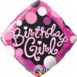 Bday Girl Pink & Black Foil