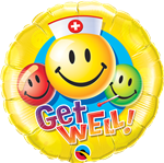 18'' Round Get Well Smile Faces