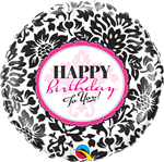 Birthday Pink & Black Foil