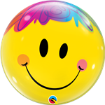 "22"" Single Bubble Bright Smile Face"