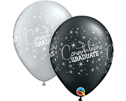 "11"" ROUND CONGRATS GRADUATION LATEX (25 PER BAG)"