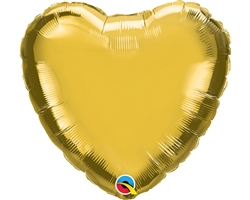 "Qualatex 36334 9"" Heart Gold Foil"
