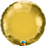 "Qualatex 36335 9"" Round Gold Foil"