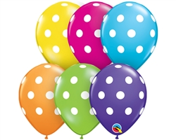 "5"" BIG POLKA DOTS LATEX (100 PER BAG)"