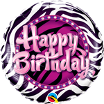 "18"" Zebra Stripes Birthday"
