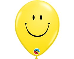 "5"" Round Smile Face Yellow"