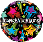 "18"" CONGRATULATIONS COLOURFUL STARS FOIL"