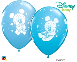 Qualatex 42839 Mickey Mouse Baby Stars Latex Balloons Ireland