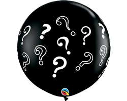 3FT ROUND GENDER REVEAL QUESTION MARK LATEX