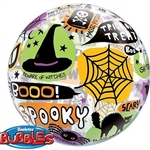 "22"" SINGLE BUBBLE HALLOWEEN MESSAGE & ICON"