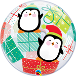 "22"" SINGLE BUBBLE PENGUINS & PRESENTS"