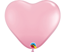 "6"" Heart Pink Latex"