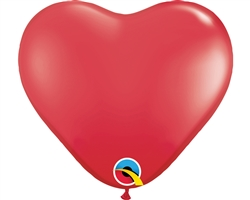 "11"" HEART RED LATEX (100 PER BAG)"