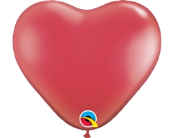 "11"" Heart Ruby Red Latex"