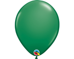 "11"" ROUND GREEN LATEX (100 PER BAG)"