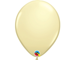 "11"" ROUND IVORY SILK LATEX (100 PER BAG)"