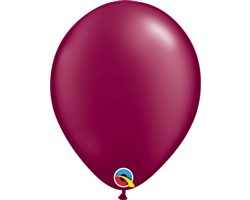 "11"" ROUND PEARL BURGUNDY LATEX (100 PER BAG)"