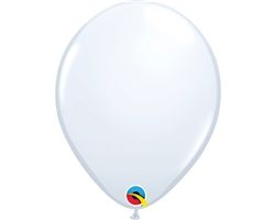 "11"" ROUND WHITE LATEX (100 PER BAG)"