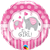 "18"" ROUND IT'S A GIRL ELEPHANT FOIL BALLOON"