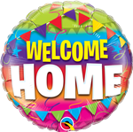 "18"" ROUND WELCOME HOME PENNANTS FOIL"