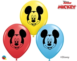 "5"" ROUND MICKEY MOUSE FACE LATEX (100PER BAG)"