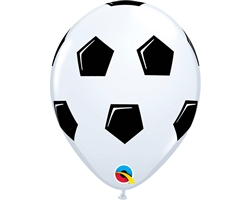 "11"" ROUND WHITE SOCCER BALL LATEX (25 PER BAG)"
