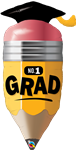 "41"" NO 1 GRADUATION PENCIL FOIL"