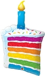 "42"" SUPER SHAPE RAINBOW CAKE & CANDLE FOIL"