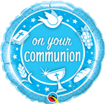 "18"" ROUND ON YOUR COMMUNION BLUE FOIL"