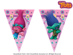 Trolls Party Triangle Bunting
