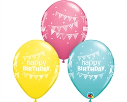 Bday Pennants Latex
