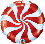 "9"" Candy Swirl Red Foil"