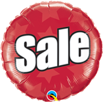 "18"" ROUND 'SALE' FOIL BALLOON"