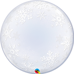 "24"" DECO BUBBLE FROSTY SNOWFLAKES"