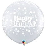 3ft Round Bday Confetti Dots Latex
