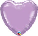 "Qualatex 54538 04"" Heart Pearl Lavender Foil"