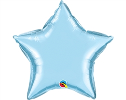 "Qualatex 54565 4"" Pearl Light Blue Foil Balloon"