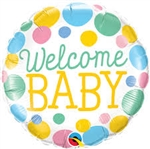 Welcome Baby Dots Foil