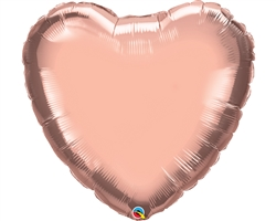 "36"" HEART ROSE GOLD PLAIN FOIL"