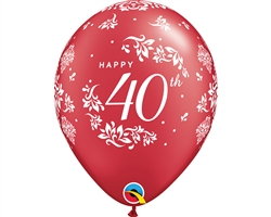 "11"" RETAIL LATEX 40TH ANNIVERSARY"