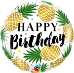 Birthday Golden Pineapples Foil