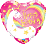 "18"" HEART BIRTHDAY MAGICAL UNICORN FOIL"