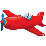 Red Vintage Airplane Super Shape Foil