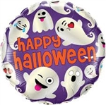 "18"" HALLOWEEN EMOTICON GHOSTS FOIL"
