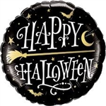 "18"" HALLOWEEN GOLDEN BROOMSTICK FOIL"