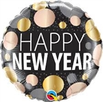 "18"" New Year Metallic Dots Foil"