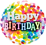 "Qualatex 58407 09"" Bday Confetti Foil"